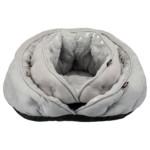 Igloo, 65 × 60 cm, fjäderdekor, grå/silver