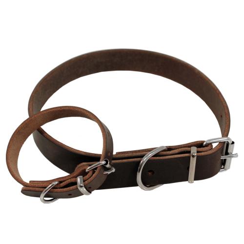 *Halsband infettat brun 70cm