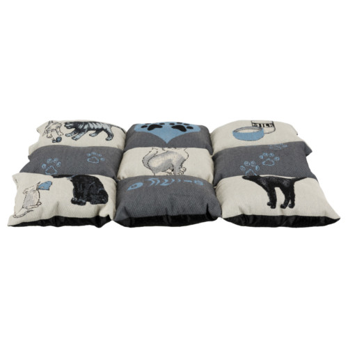 Lapptäcke Cat 55x45 cm grå/ljusblå