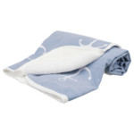 Anchor filt 150x100 cm blå/vit