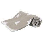 Stars filt 150 × 100 cm taupe/vit