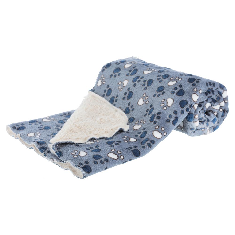 Tammy filt 100 × 70 cm blå/beige
