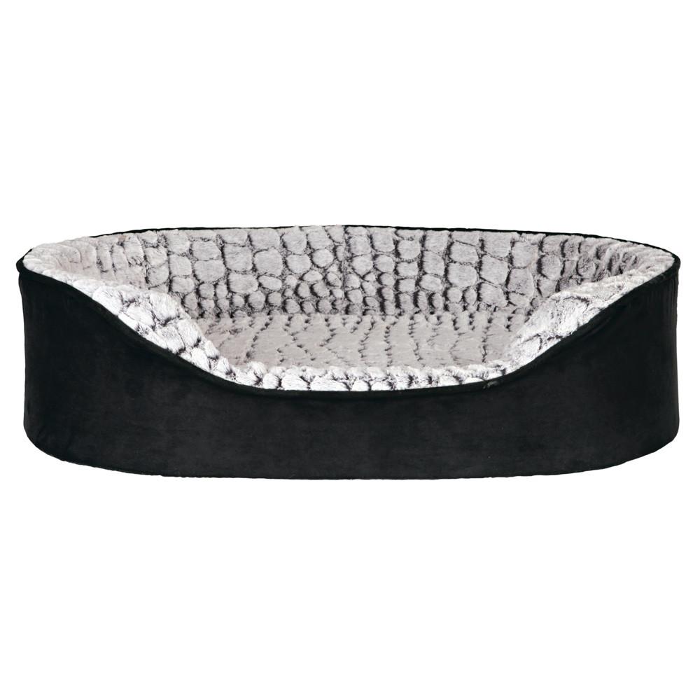 Memory Lino bädd 60 × 45 cm, svart/grå