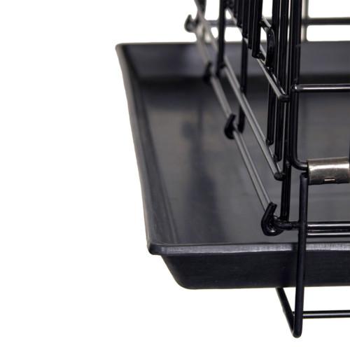 Stålbur hopfällbar svart 63x44x52cm