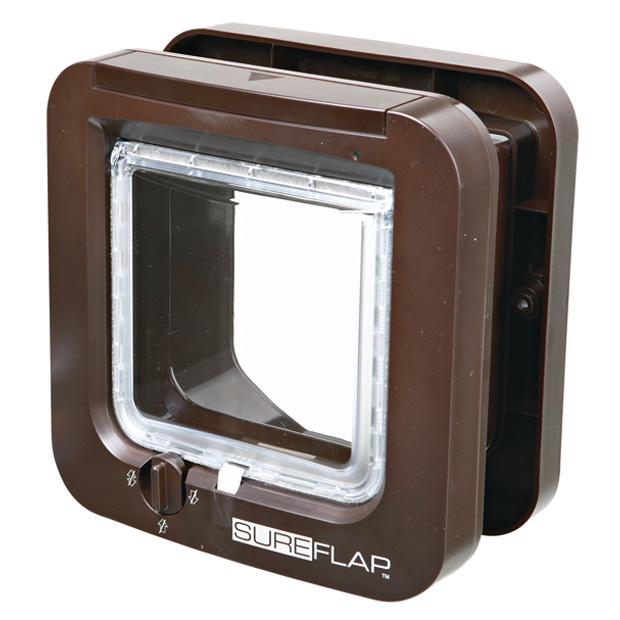 SureFlap kattdörr m microchip id, 21 × 21 cm, brun