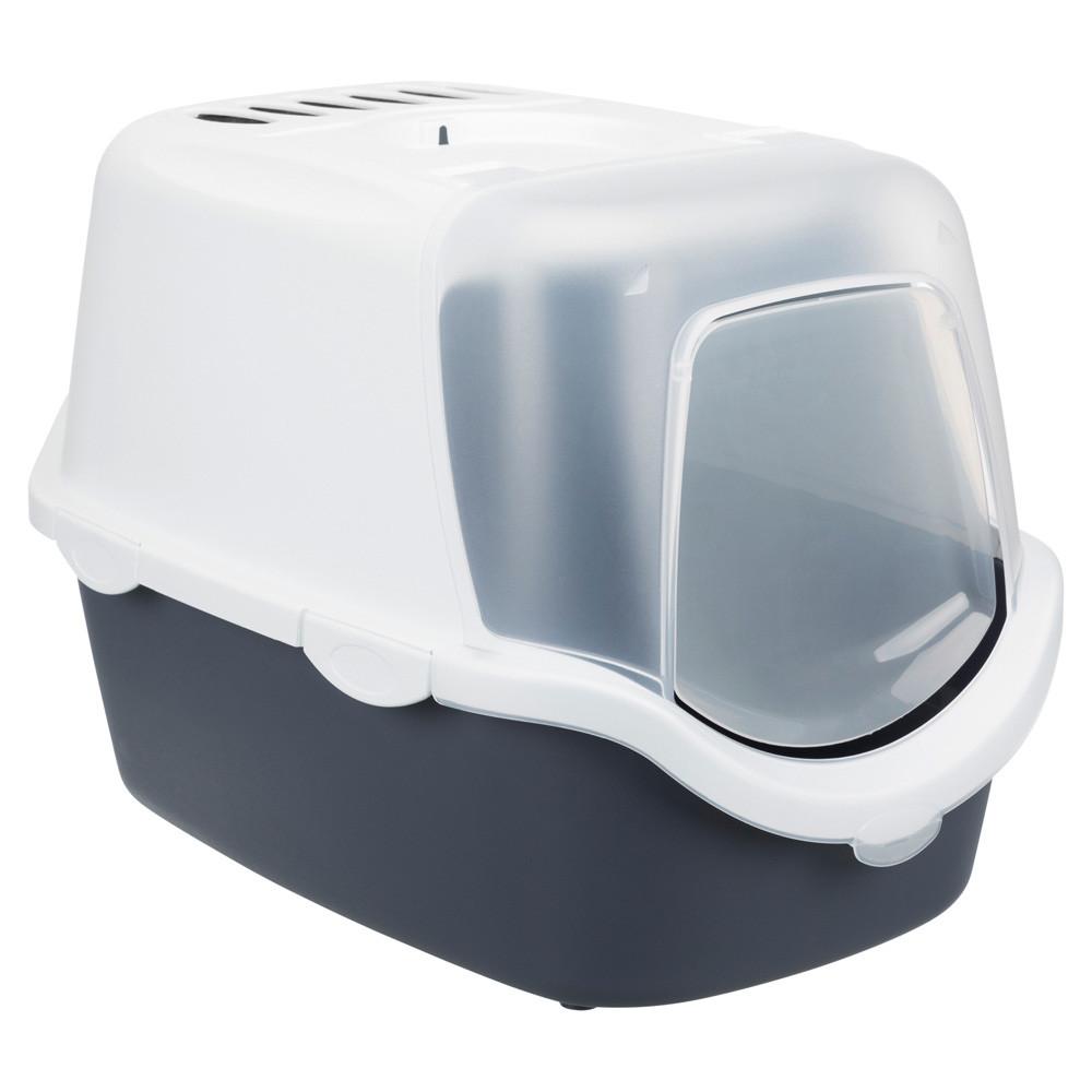 Kattlåda Vico öppningsb.front 40x40x56 cm mörkblå-grå/vit