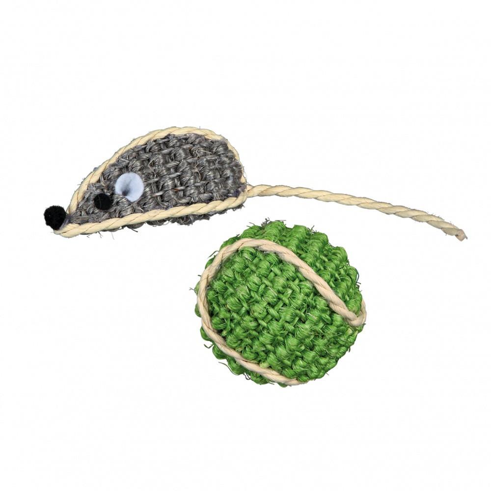 Boll och mus i sisal 5 cm/ø 4 cm