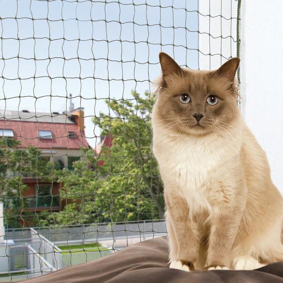 Cat Protect Kattnät m wire Olivgrön 3x2