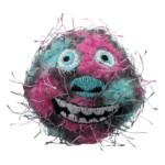 2-pack Monsterbollar polyester/plast ø 5 cm