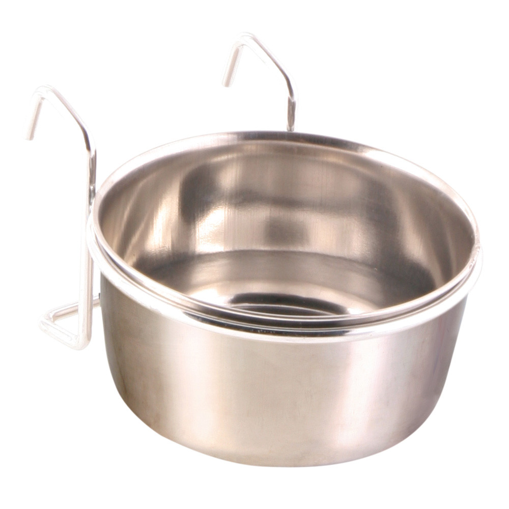 Foderkopp Rostfri med Hållare 300 ml/ø 9