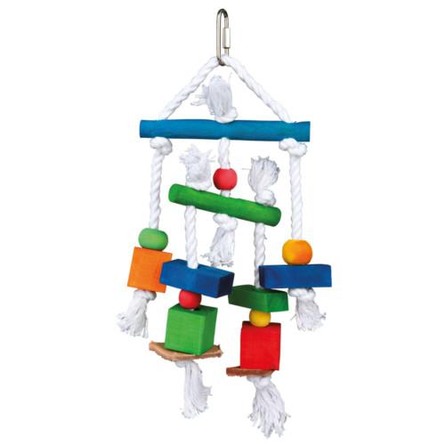 Färgglad leksak för parakit/undulat, 24 cm