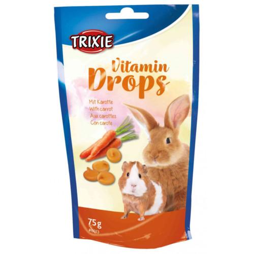 Vitamindrops gnagare Morötter 75 g
