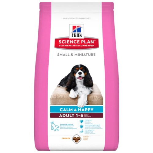 Hills Canine Small & miniature Calm&Happy Chicken 1.5kg