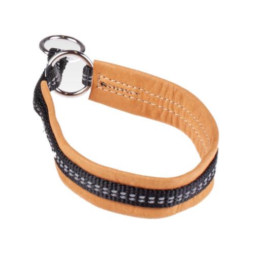 JOKKE Aksu reflexhalsband 26-33 cm/25 mm brun