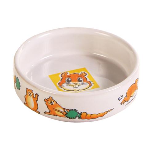 Matskål keramik motiv hamster/morot 85 c