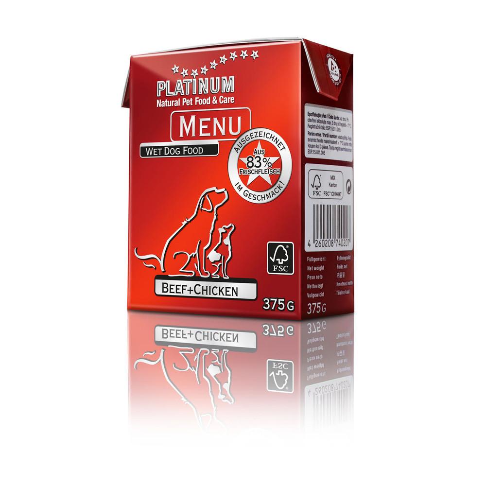 Platinum Menu Nötkött+Kyckling 375 g