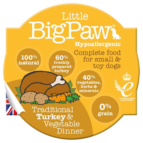 LBP Dog traditional turkey & vegetable dinner 85g