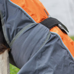 Solid regnjacka 40cm s grå/orange