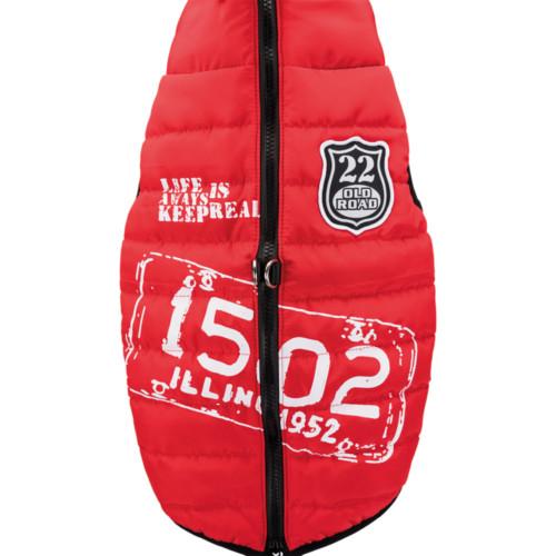 Saint-Malo täcke med sele, S: 36 cm, röd