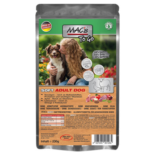 Mac's soft adult lamm to go 230g
