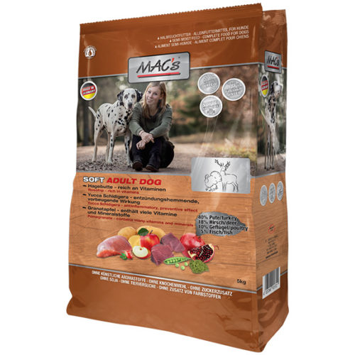Mac's soft adult Grain free kalkon & hjort 5kg