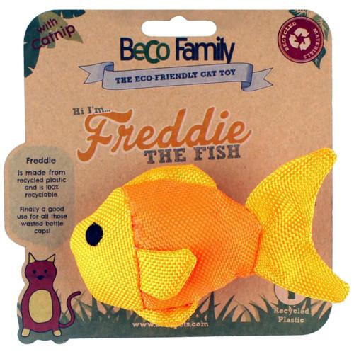Kattleksak Freddie the Fish med Catnip Beco 10 cm