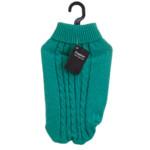 Enfärgad tröja turkos 35cm
