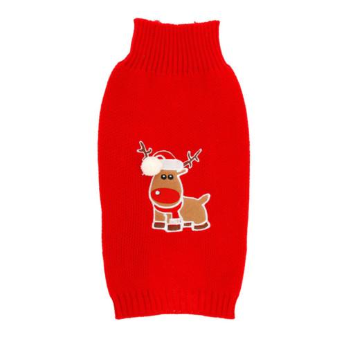 Jultröja ren 40 cm röd