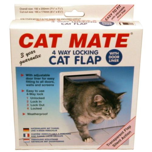 Kattlucka Cat Mate 4-vägs vit