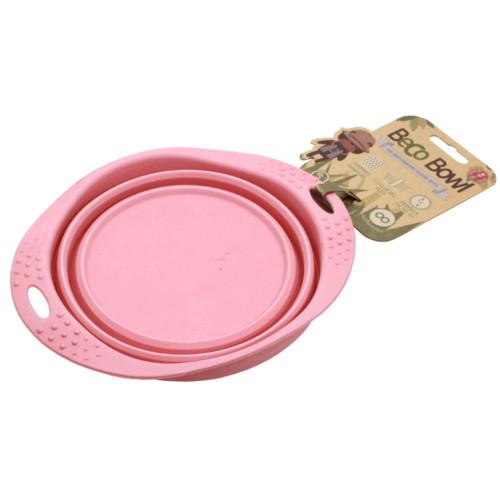 Beco matskål hopfällbar Medium Rosa från växtfibrer