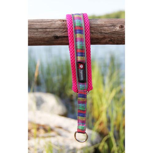 Nordic Lights mesh halsband 1 Rosa