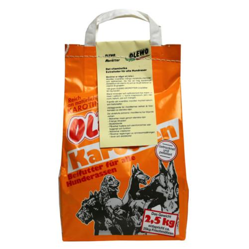 Olewo morötter hund 2,5 kg