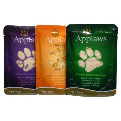 Applaws Cat Pouches Chicken Multimix 12x70g
