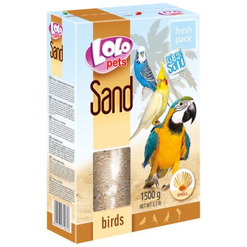 Lolo Fågelsand 400g m snäckskal
