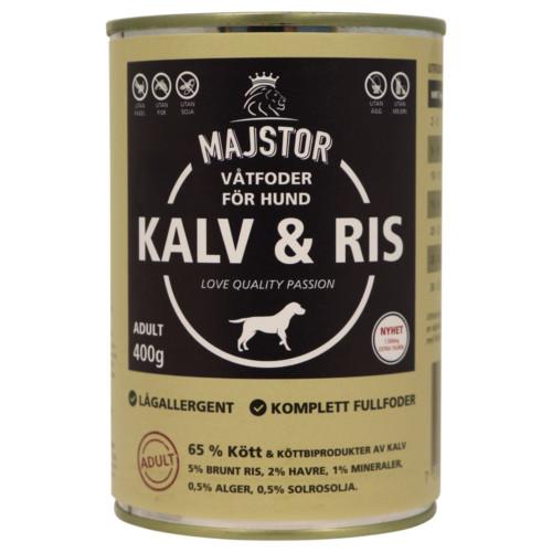 Majstor Hund Wet Kalv & Ris 400g
