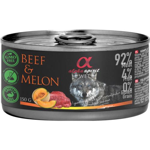 Alpha Spirit nötkött med melon 150g