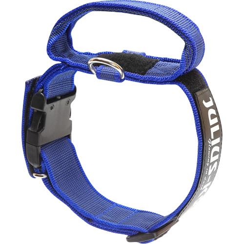 K9 Super-grip Halsband m. handtag blå 38-53 cm
