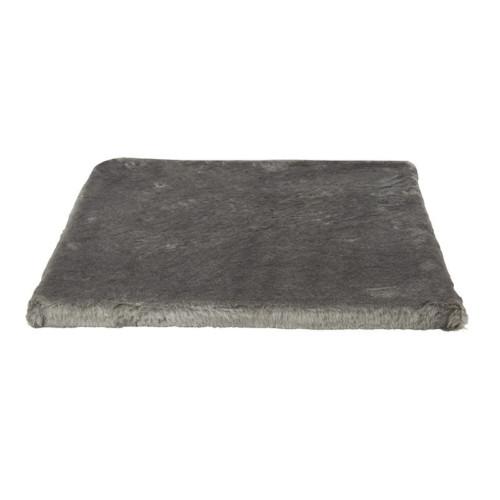 Bottenplatta med plyschöverdrag 50 x 50 cm grå
