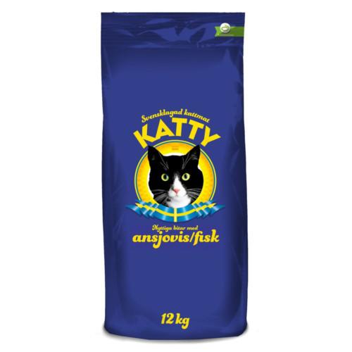 Katty nyttiga bitar ansjovis 12 kg blå
