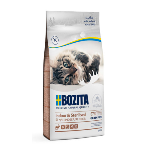 Bozita Indoor & Sterilised Grain free Reindeer 10 kg